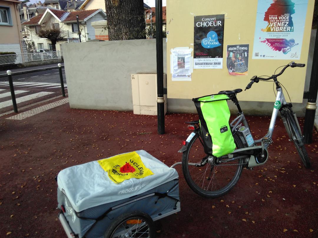 affichage panneaux yaka vélo